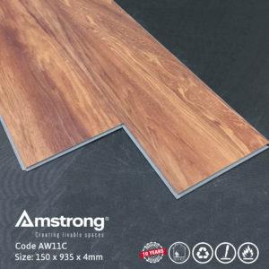 Sàn nhựa Amstrong AW11C hèm khóa thi công đơn giản nhanh chóng