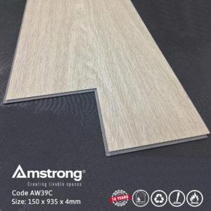 Sàn nhựa hèm khóa Amstrong AW39C màu trắng ghi hiện đại