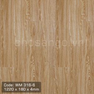 Sàn nhựa giả gỗ Winmax WM316-6 có hèm khóa
