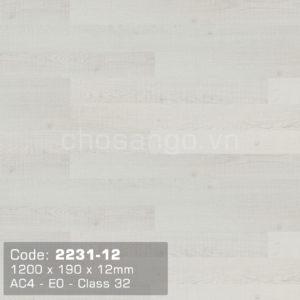 Sàn gỗ Dongwha 2231-12 dày 12mm siêu chịu nước