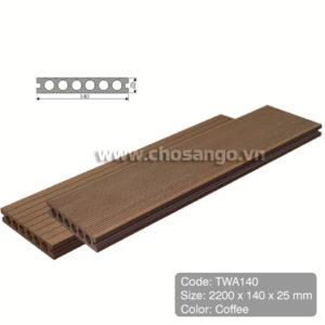 Sàn gỗ nhựa TecWood TWA140 màu Coffee