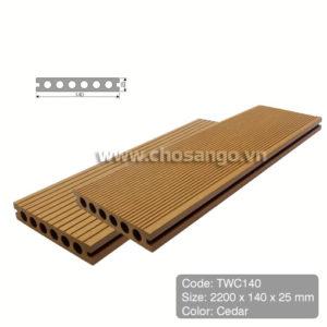 Sàn gỗ nhựa TecWood TWC140 màu Cedar