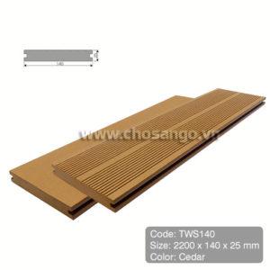 Sàn gỗ nhựa TecWood TWS140 màu Cedar