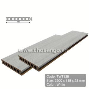 Sàn gỗ nhựa TecWood TWT138 màu White