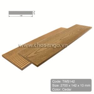 Tấm ốp gỗ nhựa Tecwood TWS142 màu Cedar