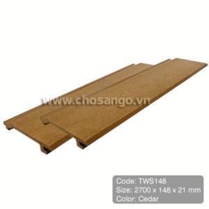 Tấm ốp gỗ nhựa Tecwood TWS148 màu Cedar