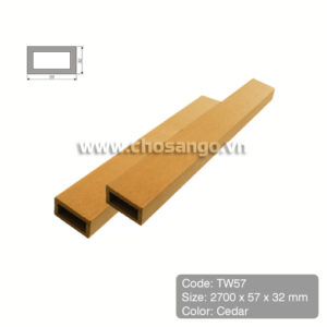 Thanh lam gỗ nhựa Tecwood TW57 màu Cedar