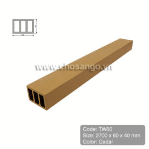 Thanh lam gỗ nhựa Tecwood TW60 màu Cedar
