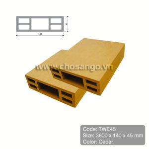 Thanh lam gỗ nhựa Tecwood TWE45 màu Cedar