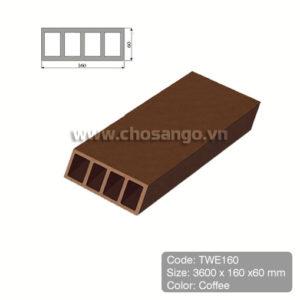 Thanh lam gỗ nhựa Tecwood TWE160 màu Coffee