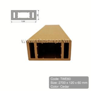 Thanh lam gỗ nhựa Tecwood TWE60 màu Cedar