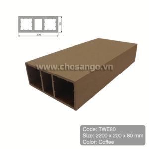 Thanh lam gỗ nhựa Tecwood TWE80 màu Coffee