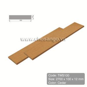Thanh lam gỗ nhựa Tecwood TWS100 màu Cedar