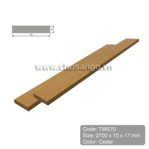 Thanh lam gỗ nhựa Tecwood TWS70 màu Cedar