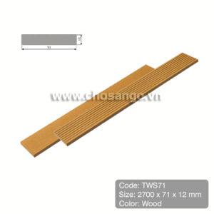 Thanh Lam gỗ nhựa Tecwood TWS71 màu Wood