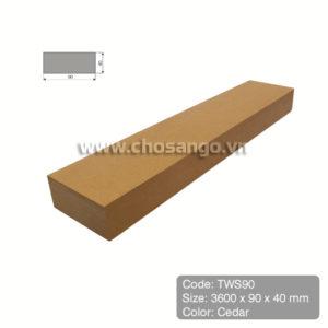 Thanh lam gỗ nhựa Tecwood TWS90 màu Cedar