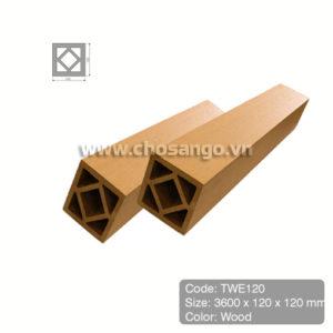 Trụ cột gỗ nhựa Tecwood TWE120 màu Wood