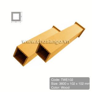Trụ cột gỗ nhựa Tecwood TWE102 màu Wood