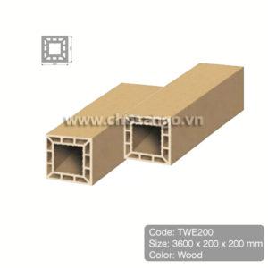 Trụ cột gỗ nhựa Tecwood TWE200 màu Wood