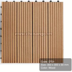 Vỉ gỗ nhựa AWood DT01 màu Wood