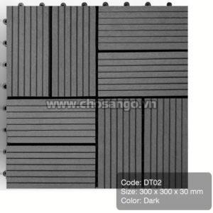 Vỉ gỗ nhựa AWood DT02 màu Dark