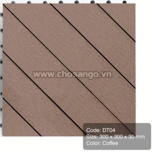 Vỉ gỗ nhựa AWood DT04 màu Coffee