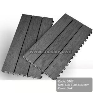 Vỉ gỗ nhựa AWood DT07 màu Dark