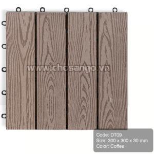 Vỉ gỗ nhựa AWood DT09 màu Coffee