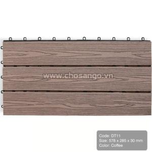 Vỉ gỗ nhựa AWood DT11 màu Coffee