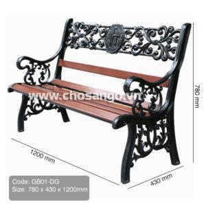 Ghế gỗ nhựa ngoài trời AWood GB01 màu DG