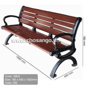 Ghế gỗ nhựa ngoài trời AWood GB02 màu DG