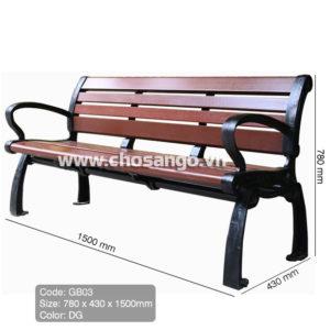 Ghế gỗ nhựa ngoài trời AWood GB03 màu DG