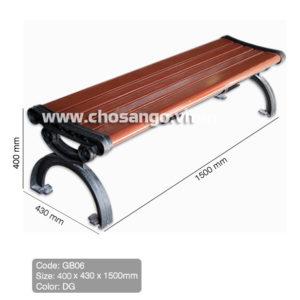 Ghế gỗ nhựa ngoài trời AWood GB06 màu DG