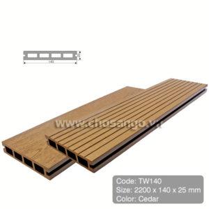 Sàn gỗ nhựa ngoài trời Tecwood TW140 màu Cedar