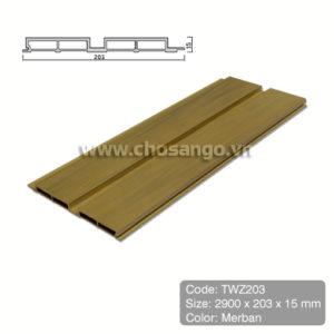 Tấm ốp gỗ nhựa Tecwood TWZ203 màu Merban