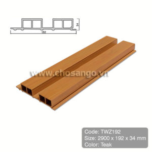 Tấm ốp gỗ nhựa Tecwood TWZ192 màu Teak