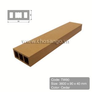 Thanh lam gỗ nhựa Tecwood TW90 màu Cedar