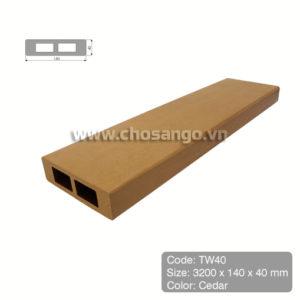 Thanh lam gỗ nhựa Tecwood TW40 màu Cedar